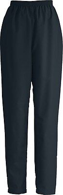 Medline ComfortEase Women Large Elastic Waist Scrub Pant, Black (8850DKWL)