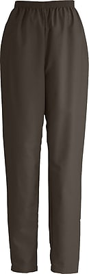 Medline ComfortEase Women Large Elastic Waist Scrub Pant, Brown (8850JBRL)