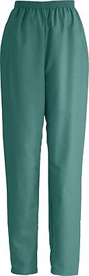 Medline ComfortEase Women Large Elastic Waist Scrub Pant, Evergreen (8850JEGL)