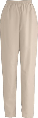 Medline ComfortEase Women Small Elastic Waist Scrub Pant, Khaki (8850JKKS)