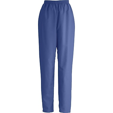 Medline ComfortEase Women Large Elastic Waist Scrub Pant, Mariner Blue (8850JMBL)