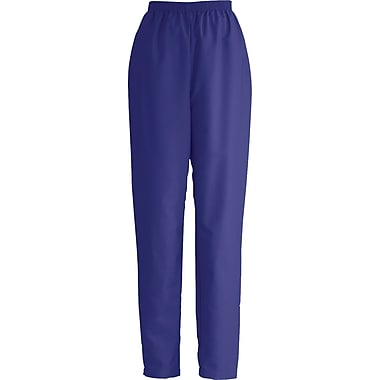 Medline ComfortEase Women Large Elastic Waist Scrub Pant, Purple (8850JPPL)