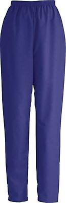 Medline ComfortEase Women Large Elastic Waist Scrub Pant, Purple (8850JPPL)