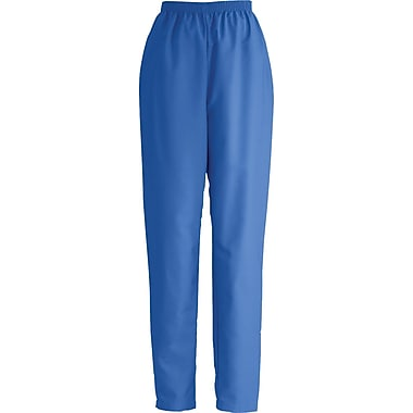 Medline ComfortEase Women Large Elastic Waist Scrub Pant, Royal Blue (8850JRLL)