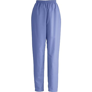 Medline ComfortEase Women Large Elastic Waist Scrub Pant, Ceil Blue (8850JTHL)