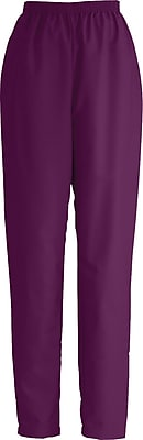 Medline ComfortEase Women Small Elastic Waist Scrub Pant, Wine (8850JWNS)