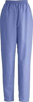 Medline ComfortEase Women Large Elastic Waist Scrub Pant, Ceil Blue (8852JTHL)