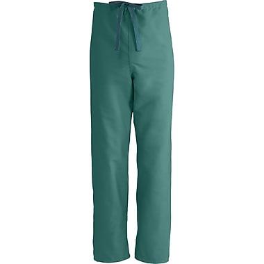 Medline ComfortEase Unisex Small Reversible Scrub Pants, Evergreen (900JEGS-CM)