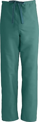 Medline ComfortEase Unisex Large Reversible Scrub Pants, Evergreen (900JEGL-CM)