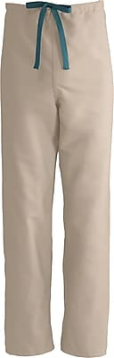 Medline ComfortEase Unisex Medium Reversible Scrub Pants, Khaki (900JKKM-CM)