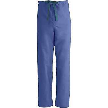 Medline ComfortEase Unisex XS Reversible Scrub Pants, Mariner Blue (900JMBXS-CM)