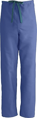 Medline ComfortEase Unisex XL Reversible Scrub Pants, Mariner Blue (900JMBXL-CM)