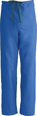 Medline ComfortEase Unisex Medium Reversible Scrub Pants, Royal Blue (900JRLM-CM)
