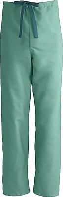 Medline ComfortEase Unisex Small Reversible Scrub Pants, Jade Green (900JTJS-CM)