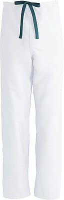 Medline ComfortEase Unisex 3XL Reversible Scrub Pants, White (900XTQXXXL-CM)