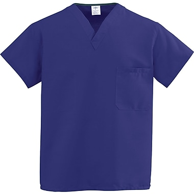 Medline ComfortEase Unisex XL V-Neck Two-Pockets Reversible Scrub Top, Purple (910JPPXL-CM)