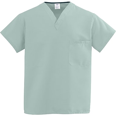 Medline ComfortEase Unisex XS V-Neck Two-Pockets Reversible Scrub Top, Seaspray (910JSSXS-CM)