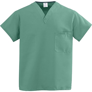Medline ComfortEase Unisex XL V-Neck Two-Pockets Reversible Scrub Top, Jade Green (910JTJXL-CM)