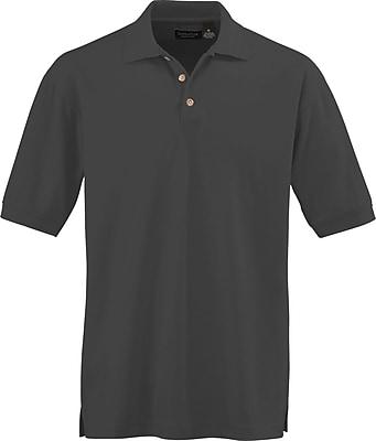Medline Men Large Whisper Pique Polo Shirt, Black (930BLKL)