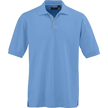 Medline Men Medium Whisper Pique Polo Shirt, Cornflower (930CFLM)