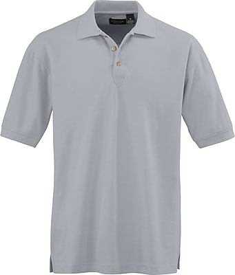 Medline Men Medium Whisper Pique Polo Shirt, Gray (930GRYM)