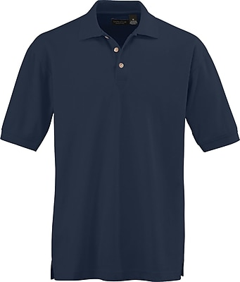 Medline Men XL Whisper Pique Polo Shirt, Navy Blue (930NVYXL)