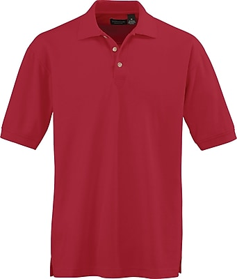 Medline Men Medium Whisper Pique Polo Shirt, Red (930REDM)
