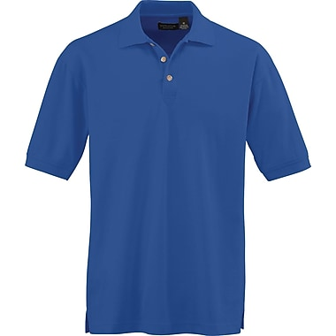 Medline Men Large Whisper Pique Polo Shirt, Royal Blue (930RYLL)