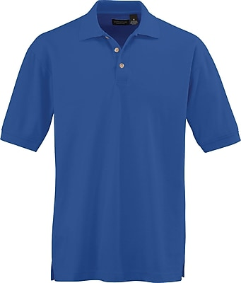 Medline Men Medium Whisper Pique Polo Shirt, Royal Blue (930RYLM)