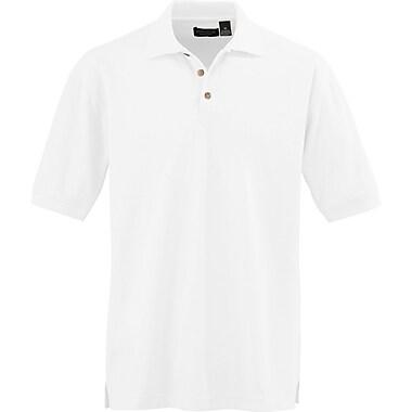 Medline Men Small Whisper Pique Polo Shirt, White (930WHTS)