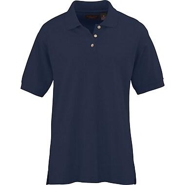 Medline Women Large Whisper Pique Polo Shirt, Navy (931NVYL)