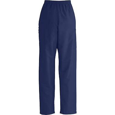Medline ComfortEase Unisex Large, Long Length Cargo Scrub Pants, Midnight Blue (9351JNTLL)