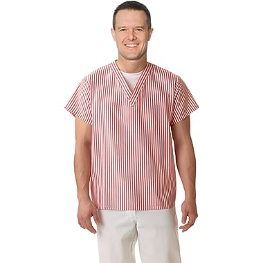 Medline Unisex V-neck Shirts, Candystripe, Small