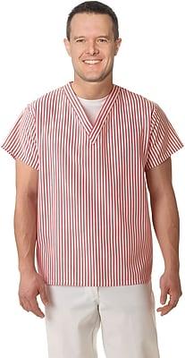 Medline Unisex V-neck Shirts, Candystripe, Small
