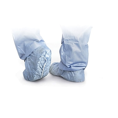 Medline Men Regular/Large Non-Skid Shoe Covers, Blue (CRI2002Z)