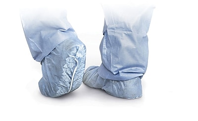 Medline Men Regular/Large Non-Skid Shoe Covers, Blue (CRI2002)