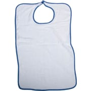 Medline Impervious Hook and Loop Closure Adult Bibs, White, Dozen/Case