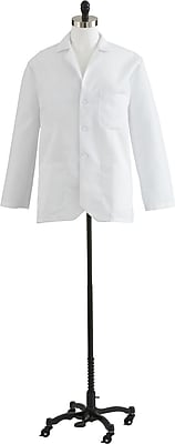 Medline Men's Consultation Lab Coats, White, 58 Size