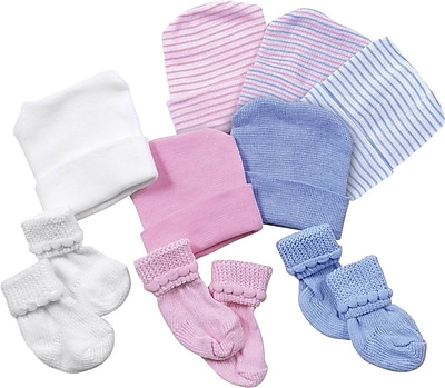 Medline Infant Cap/Booties Sets, White, Dozen