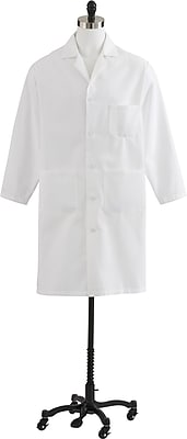 Medline Men Large Heavyweight Twill Lab Coat, White (MDT775501046)