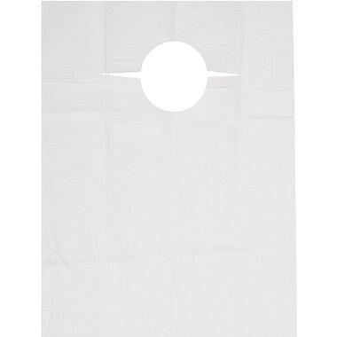 R Sabee Disposable Slip-on Adult Bibs, White, 150/Case