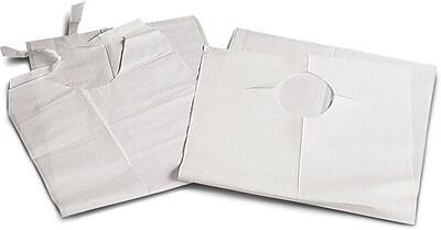 Medline Disposable Slip-on Adult Bibs, White, 150/Case