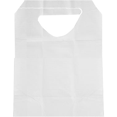 Medline Disposable Ties Adult Bibs, White, 300/Case