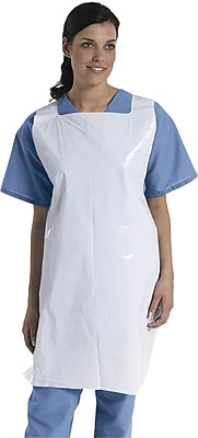 Medline Unisex Protective Disposable Aprons, White (NON24272)