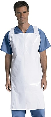 Medline Unisex Protective Disposable Aprons, White (NON24274)