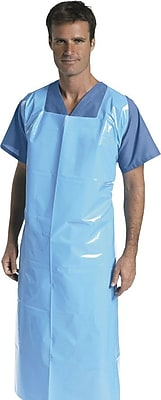 Medline Unisex Aprons, Blue (NON24280) 989105