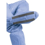 Medline Non-Skid Hook & Loop Boot Covers, Blue, 150/Case