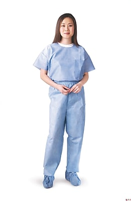 Medline Unisex Medium Scrub Pants, Blue (NON27213M)