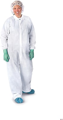 Medline XL Heavyweight Spunbound Coverall, White (NONCV150XL)