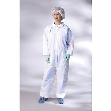 Medline Classic Breathable Coveralls, White, Large